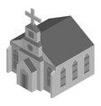 grey church house icon isometric style vector image