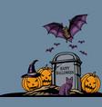 halloween grave stone vector image