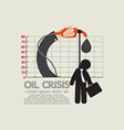 Hangman On Oil Crisis Chart vector image