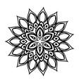 happy diwali card with mandala vector image