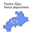 Hautes-Alpes french department map vector image vector image