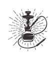 hookah with rays retro vector image