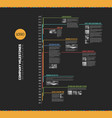 infographic multi timeline report template vector image vector image