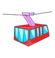 Istanbul tram icon cartoon style vector image vector image
