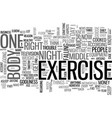 it s my body i ll exercise it if i have to text vector image