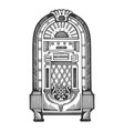 jukebox engraving vector image vector image