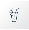lemonade icon line symbol premium quality vector image