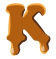 Letter K from caramel icon vector image vector image