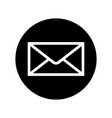 mail icon in black circle envelope symbol vector image vector image