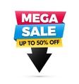 Mega sale banner big sale poster design vector image
