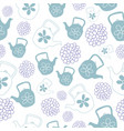 mint green teapots seamless pattern design vector image vector image