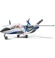 modern aircraft vector image vector image