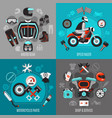 motorcycle 2x2 design concept vector image