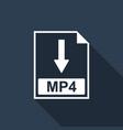 mp4 file document icon download mp4 button icon vector image vector image