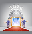 new year 2014 red carpet vector image vector image