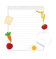 note page with food vector image vector image