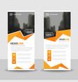 orange polygon business roll up banner flat design vector image vector image
