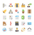 pack of office and project management flat vector image
