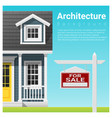 real estate investment with house for sale vector image