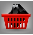 Red shopping basket with tablet vector | Price: 1 Credit (USD $1)