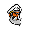 seadog sea captain head mascot vector image vector image