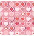 Seamless background with pink paper hearts eps10 vector image vector image