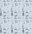 Seamless pattern clothes vector image vector image