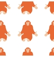 Seamless Pattern of a Monkey chimpanzee vector image vector image