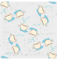 seamless pattern with cute hand drawn childish vector image