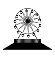 silhouette Ferris wheels vector image vector image