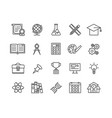 simple set of education thin line icons vector image vector image