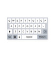 smartphone keyboard alphabet buttons flat style vector image vector image