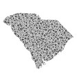 south carolina state map of triangles vector image