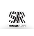 sr s r lines letter design with creative elegant vector image vector image