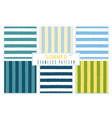 summer seamless striped pattern and background set vector image vector image