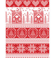 Tall xmas pattern with gingerbread house vector image vector image