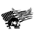 the national symbol usa flag and eagle vector image vector image