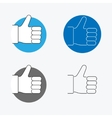 Thumbs Up Thin Line Icon Set vector image vector image