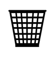 trash office supplies icon graphic vector image