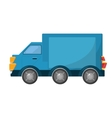 truck vehicle transport isolated icon vector image