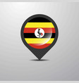 uganda map pin vector image