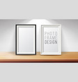 vertical frame mock up good for display vector image vector image