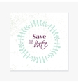 Wedding greetind card template with hand drawn vector image vector image