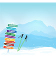 wintersports in french alps vector image vector image