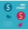 Work efficiency banner Business people flying vector image