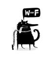 wosaying funny dog on leash vector image vector image