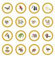 animal icon circle vector image