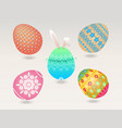 easter egg object vector image