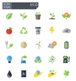 flat eco icons set vector image