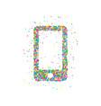 icon smartphone circles vector image